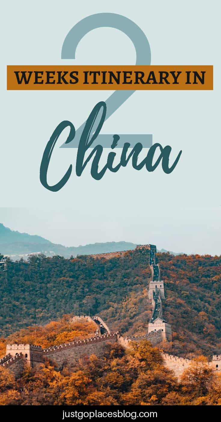 two weeks itinerary in China