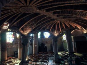 Antoni Gaudi's Crypt at Colonia Guell, a Catalan Modernist Factory Town