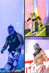 Lucha Libre Costumes at Arena Mexico in Mexico City