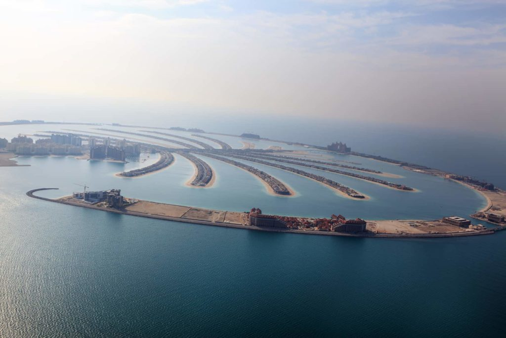 The Palm Island in Dubai, UAE