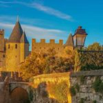 The medieval walled city of Carcassone