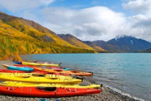 kayaking elkutna lake alaska