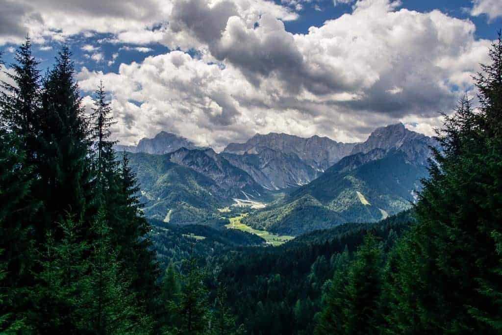 Kranjska Gora in the Julian Alps, Slovenia