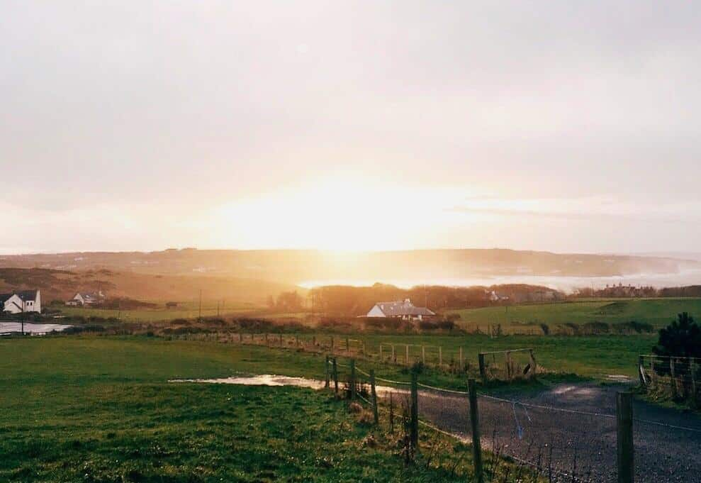 fields in County Antrim