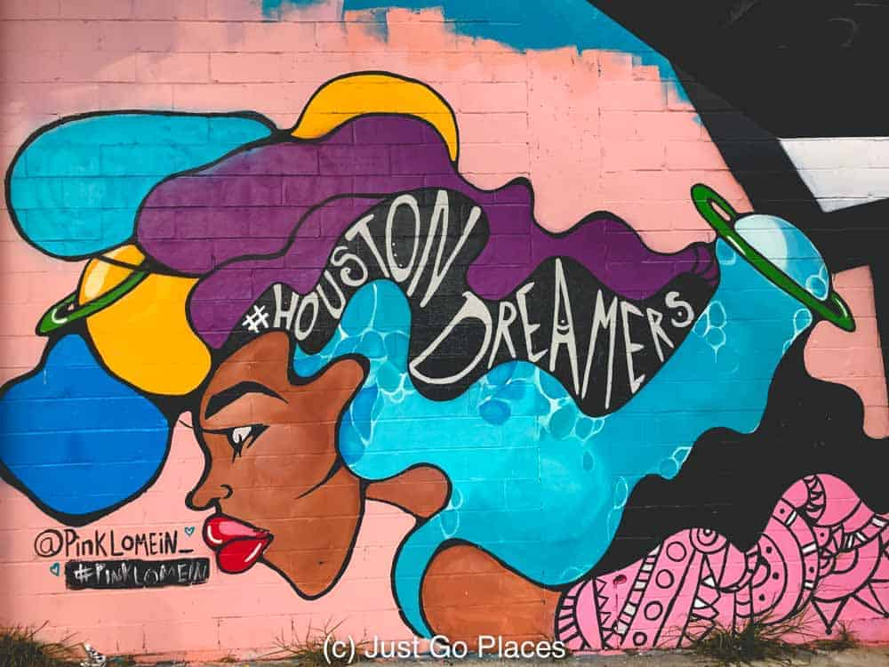 Houston Dreamers by Pink Lo Mein, Downtown Houston wall art