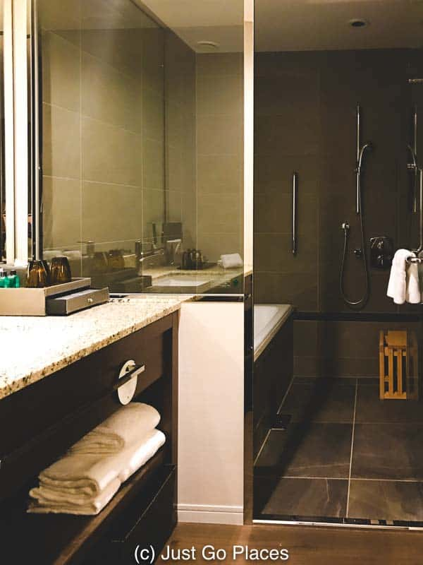 Our fabulous bathroom at the Osaka Marriott Miyako hotel.