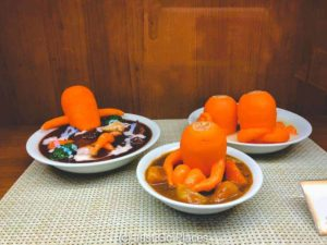 replica food of carrots being cute
