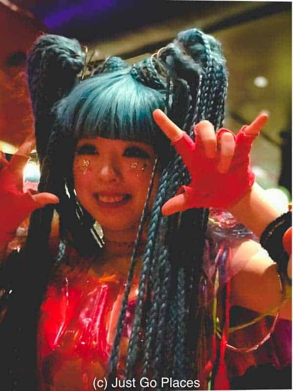 One of the Monster Girls from the Kawaii Monster Cafe Harajuku
