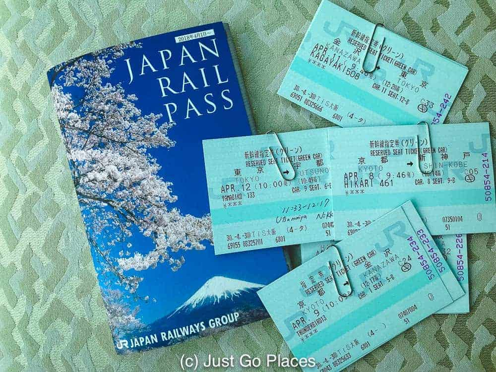 flatly of Japan Rail Pass and Green car reserved seat tickets
