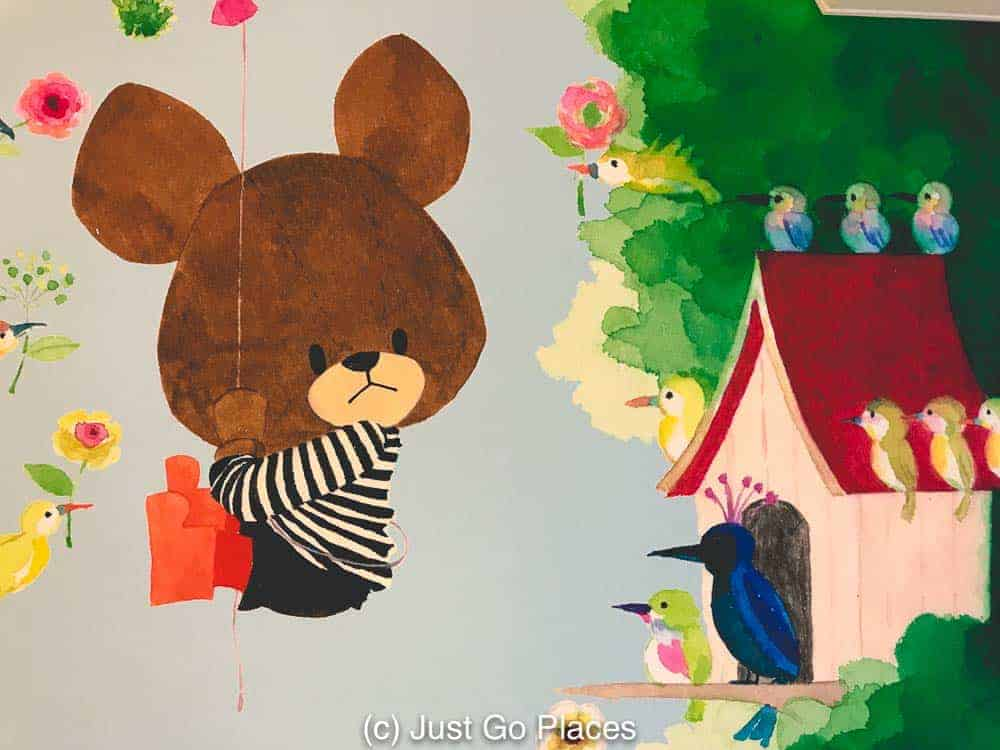 A mural in the kiddyland store