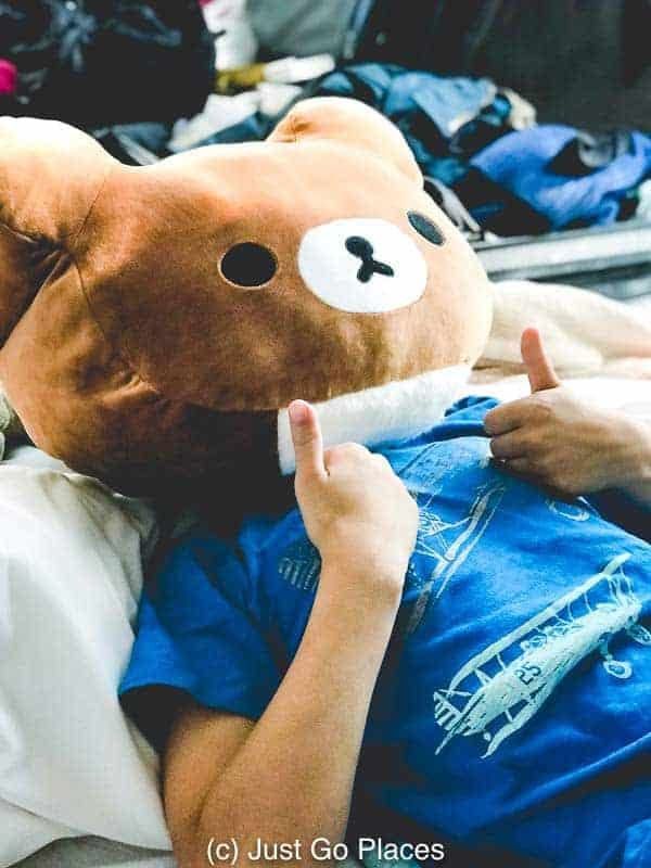 rilakkuma head pillow