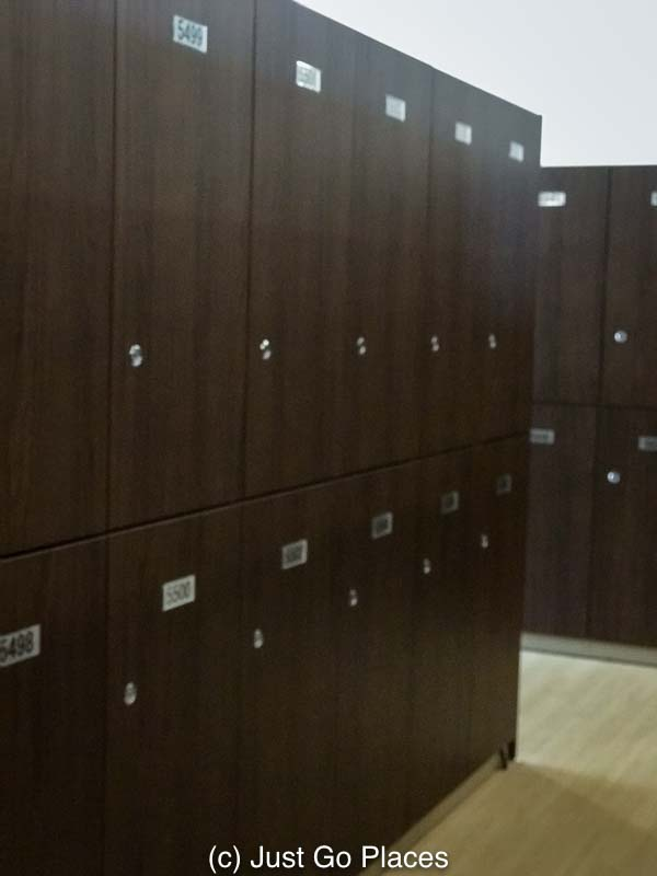 The very brown Kowakien Yunessun locker room