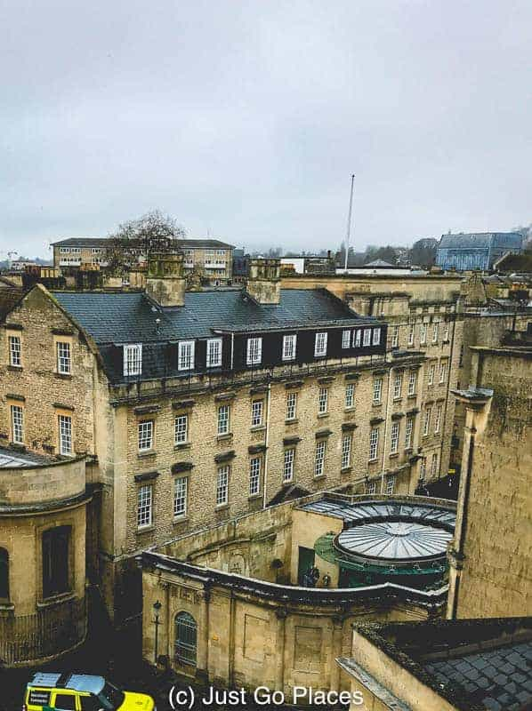 An aerial view of the Cross Bath Spa