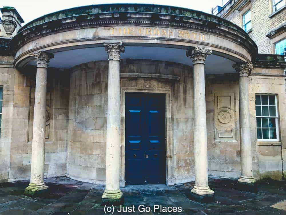 The Cross Bath Spa is located within a grand Grade I listed building.