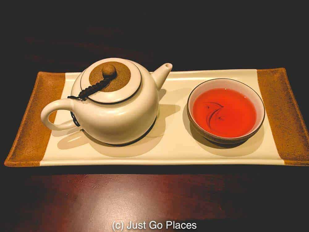 A beautiful teapot and cup of Chinese tea