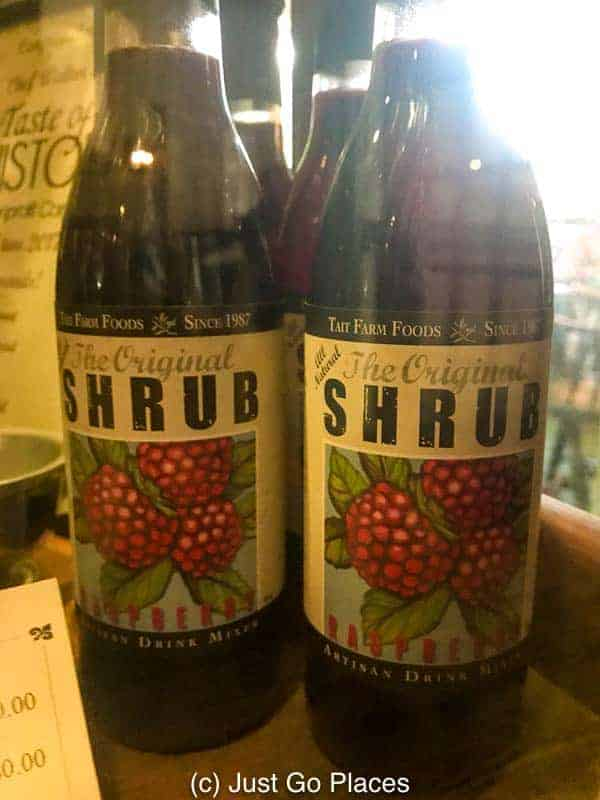 Chef Staib has created a new version of 'shrub' a colonial drink made with berries.