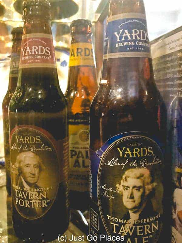 The City Tavern Philly sells founding father beer!