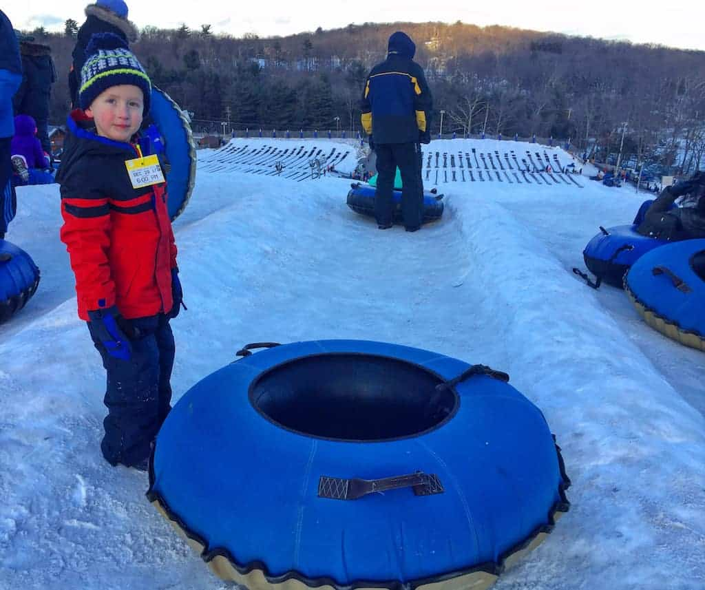 Tubing at Camelback Mountain, one of the best ski resorts in PA