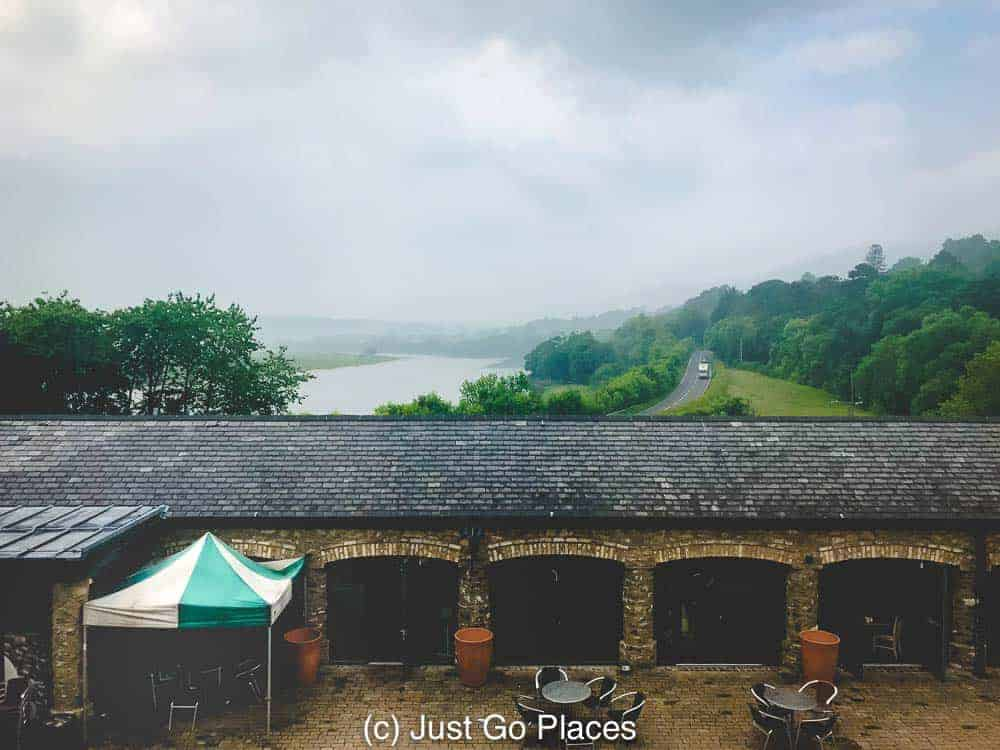 The Furnace Tea Room with the Conwy valley stretching out behind it.