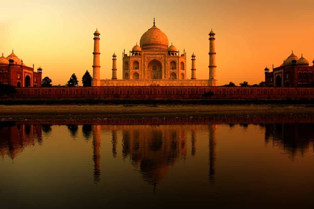 The Taj Mahal in Agra, one of the three prongs of the Golden Triangle in India