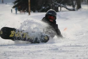 Skiing at Holiday Village, one of the best ski resorts in NY