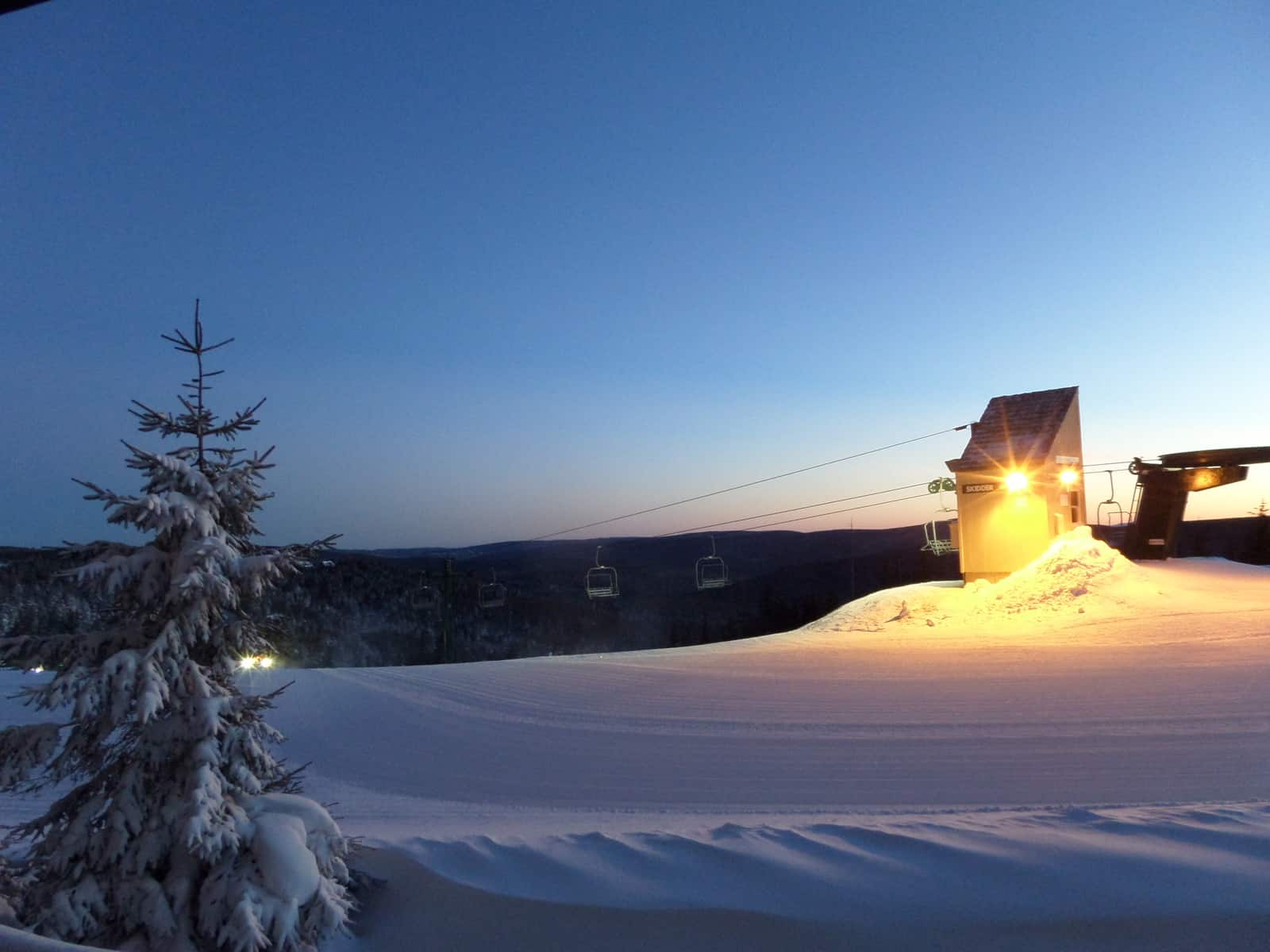 Snowshoe mountain, one of the best ski resorts in West Virginia