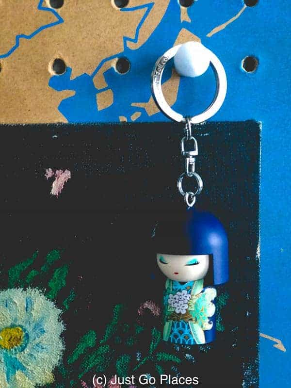 A kimmidoll keychain capitalises on the traditional Kokeshi craft.