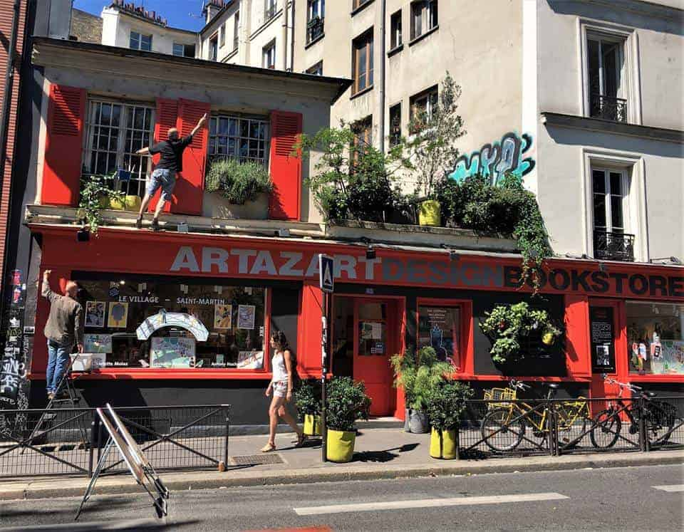 Artazart is a well-regarded art and design bookstore in Paris.