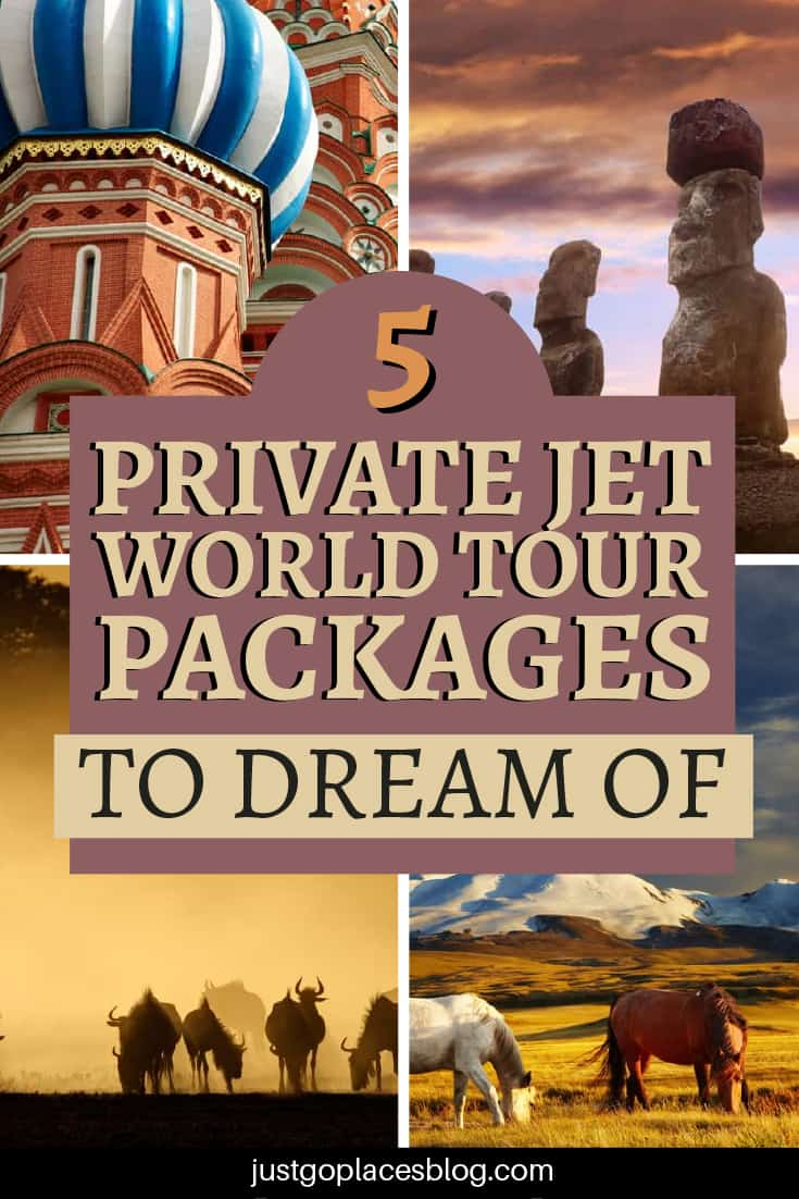 5 private jet world tour packages