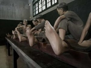 The Hanoi Prison Museum shows the French treatment of Vietnamese prisoners when it was Hoa Lo Prison.