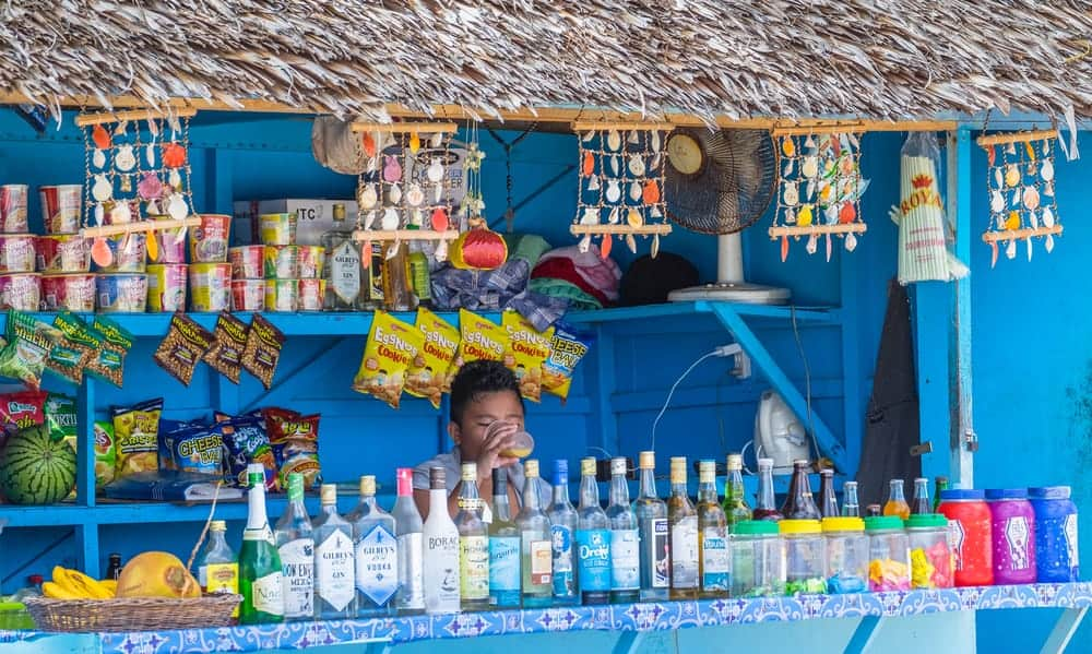 A Boracay beach bar at Puka beach in Boracay
