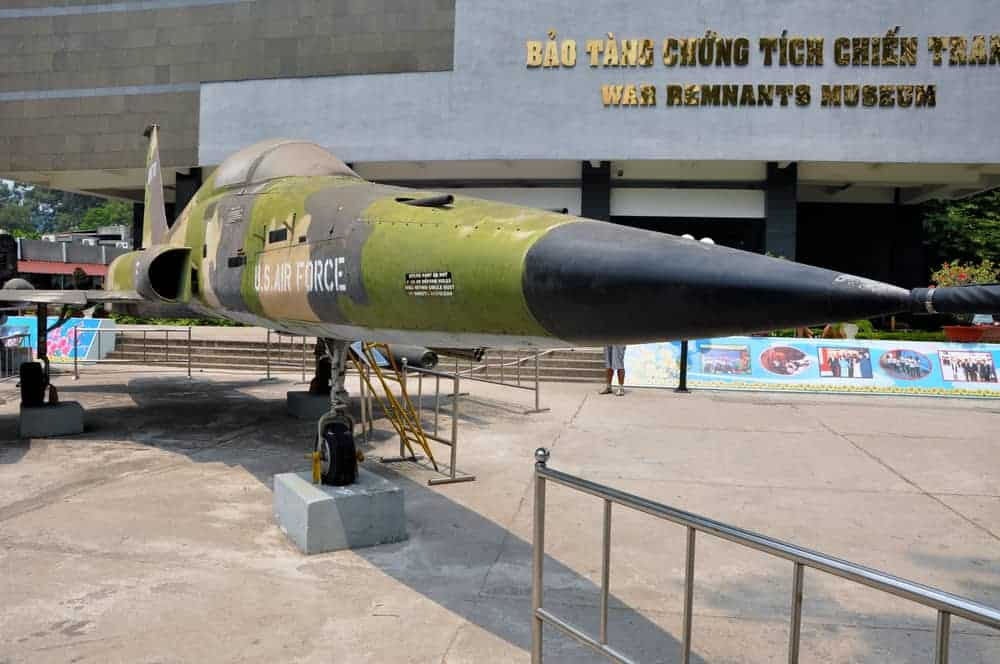 The Saigon War Remnants Museum shows off artifacts from the Vietnam War