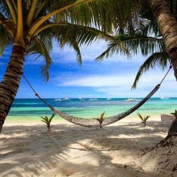A Boracay beach is the perfect place for a snooze in the sunshine