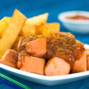 Currywurst is typical Berlin food and is ubiquitous.