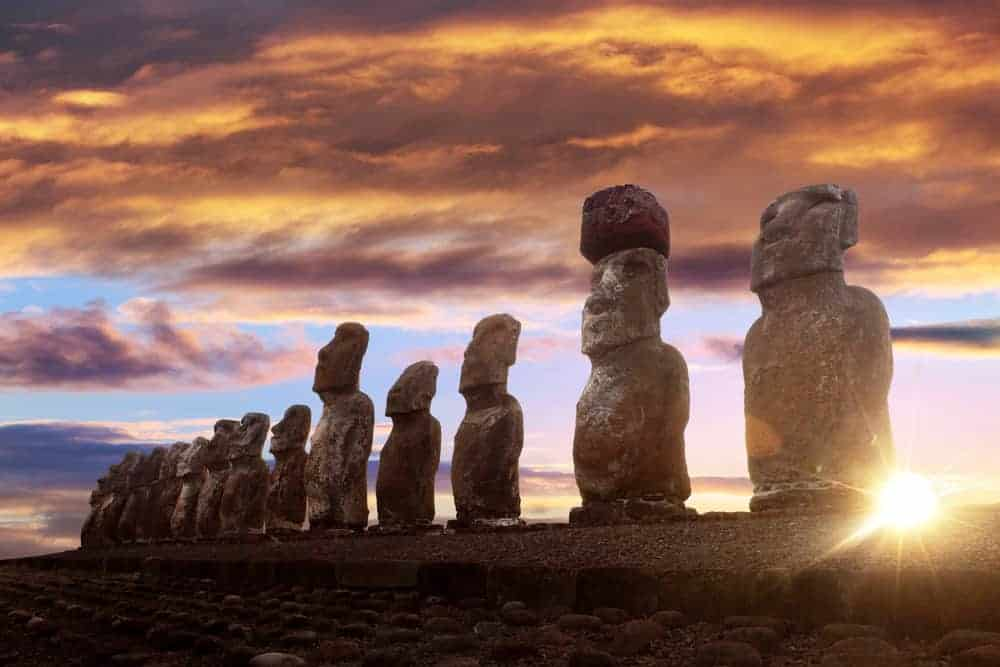 A tour around the world usually involves a stop at Easter Island