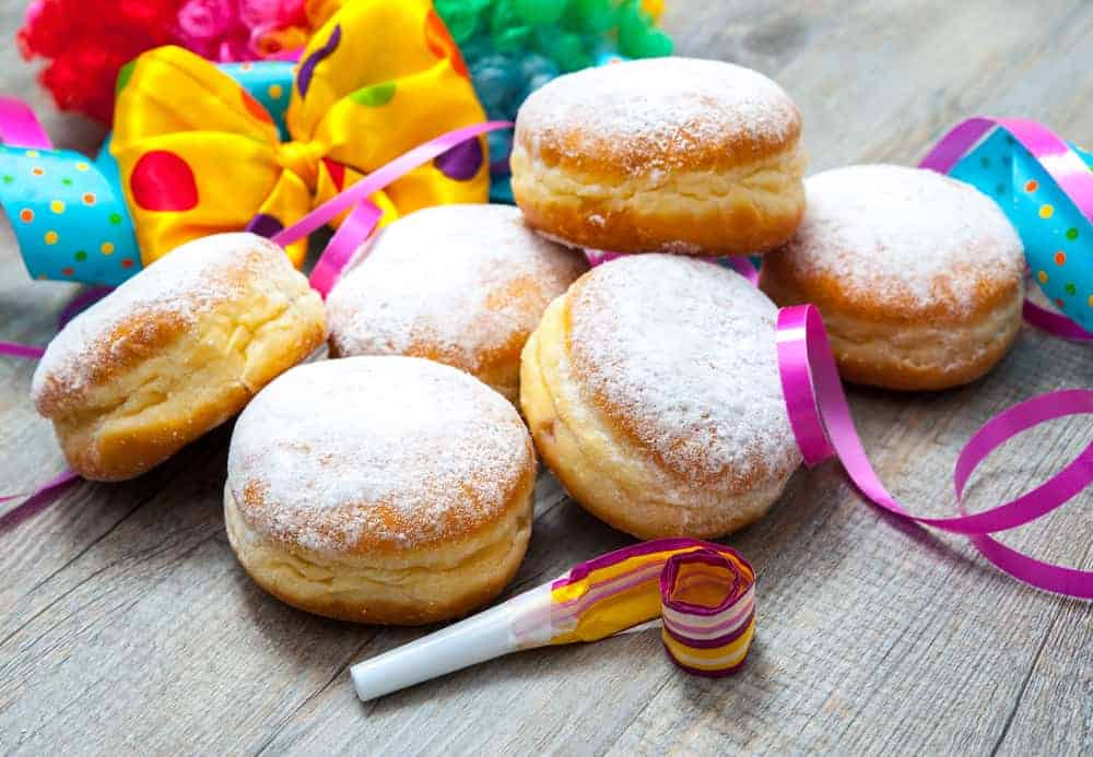 According to my sugar loving kids, some of the best food in Berlin is a Berliner Pfannkuchen (a jelly doughnut)