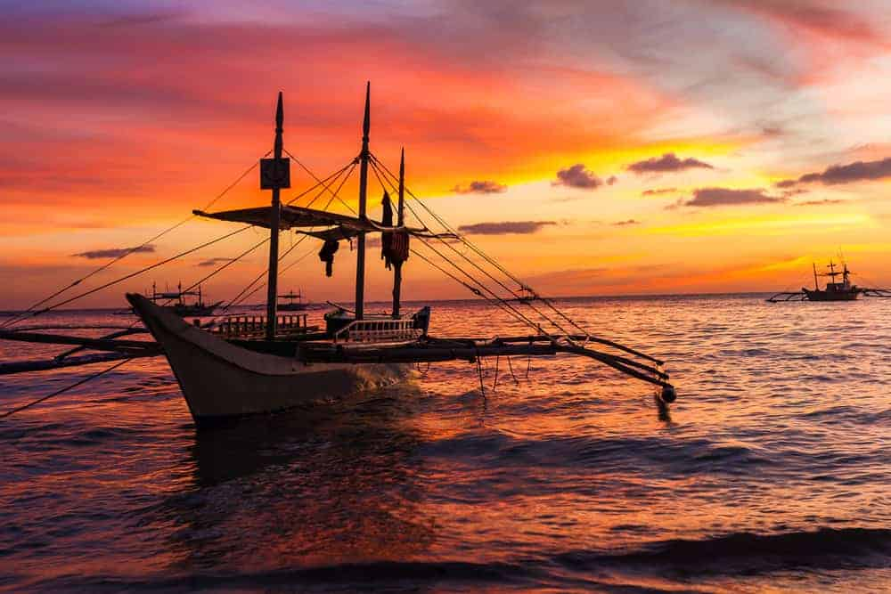 A sunset sail is one of the great Boracay activities available to you on vacation