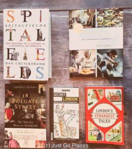 London themed gifts for book lovers include aspects of the city's history, cooking and entertainment.