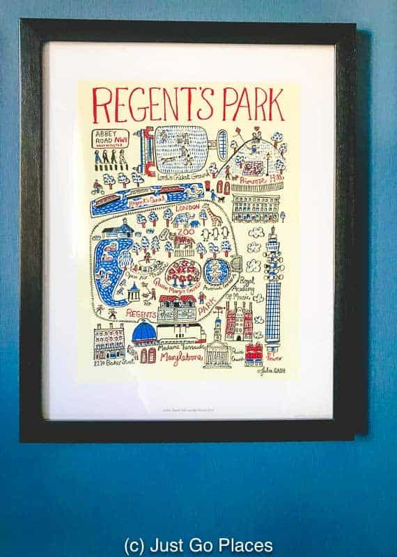 These prints make great London gift ideas because they can commemorate a special place.