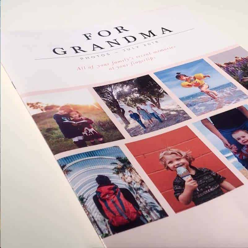 Copies of a printed family diary makes for great long distance family gifts