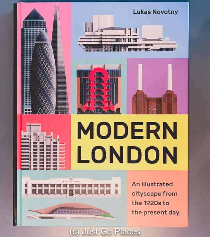 An architecture book with beautiful artwork created by a London resident