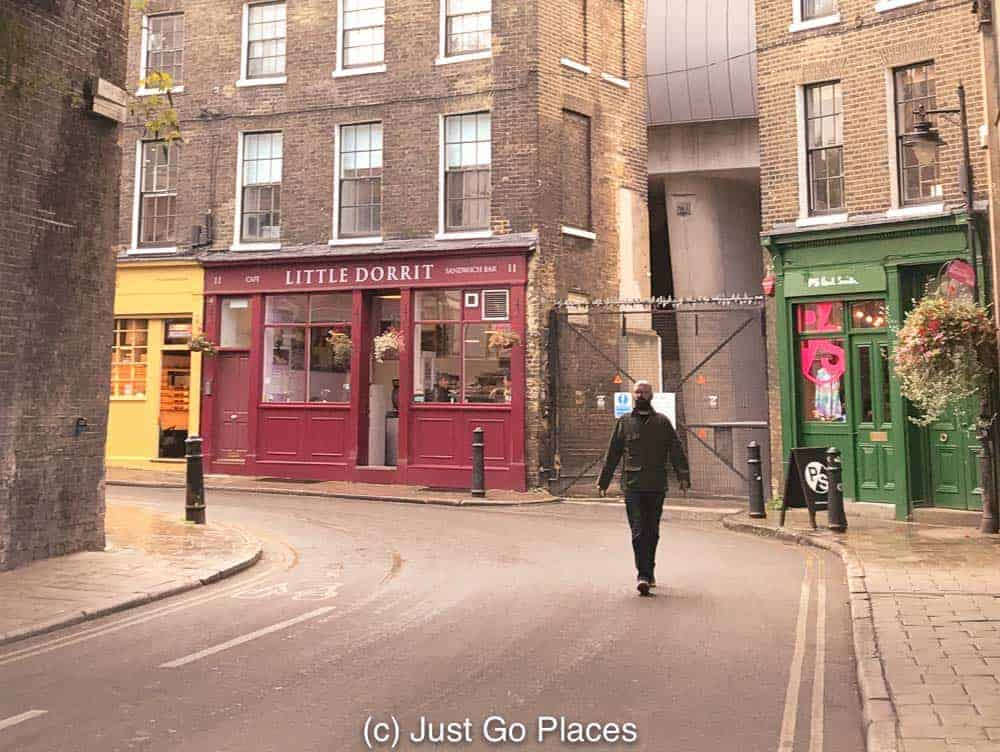The Little Dorrit Cafe has great bacon sandwiches if you want to stop for a bite on your Charles Dickens walking tour.
