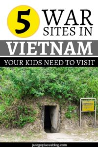 Sure, when you visit Vietnam you can't miss Halong Bay, the Mekong Delta, as well as eat pho and relax at the beach. But you also need to include in your Vietnam Itinerary these 5 Vietnam War Sites, which include the Cu Chi Tunnels and the War Remnants Museum in Ho Chi Minh. Kids and adults will learn a lot by visiting! #vietnam #war #vietnamwar #vietnammemories #vietnamwarmemories