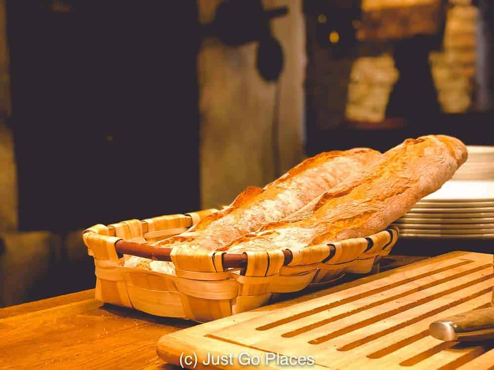 Fresh bread is a real treat at this Spanish restaurant in Picadilly Circus
