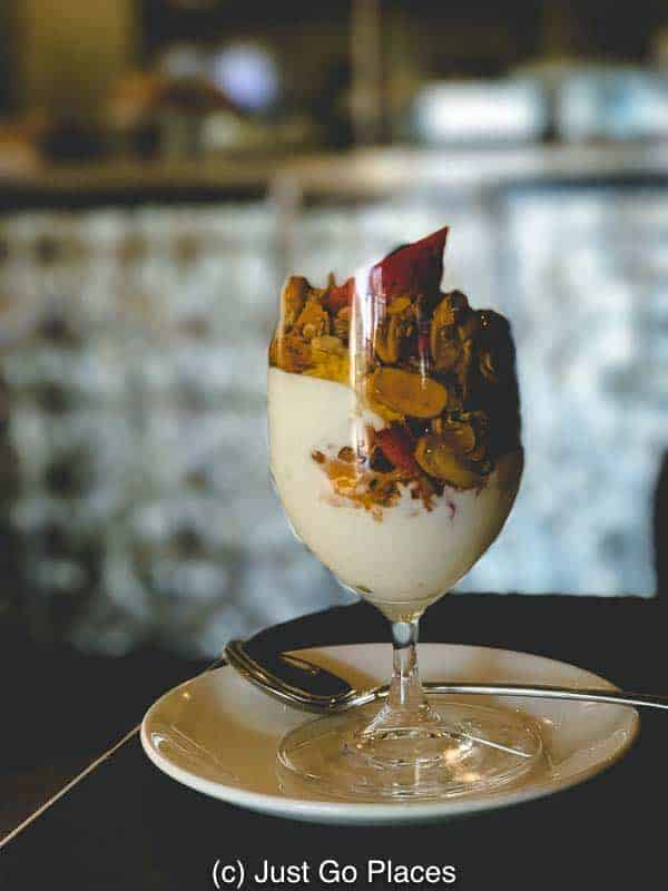 A breakfast parfait was one of our favourite ways to start our day at the Pontchartrain Hotel.