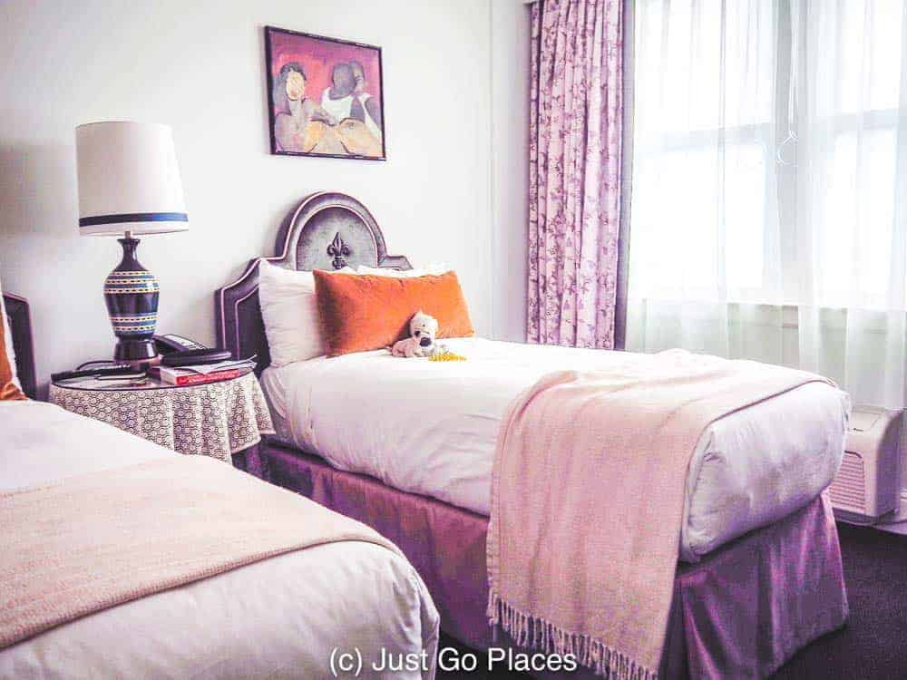 An adjoining twin bedroom makes this an ideal hotel stay when you visit New Orleans with kids.
