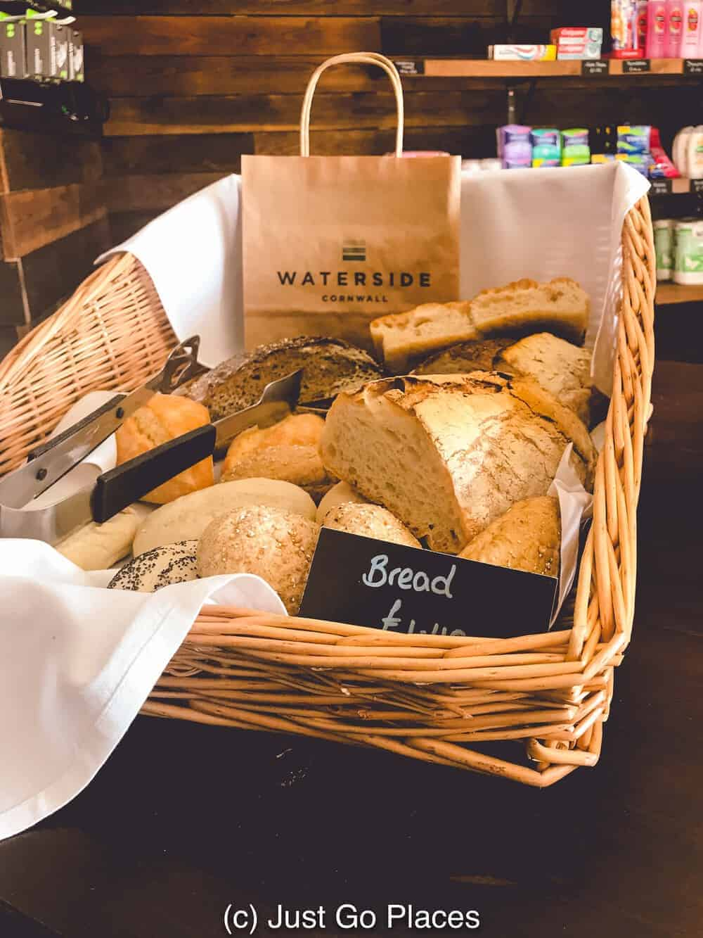 Fresh bread is available at the center at these luxury cottages Cornwall