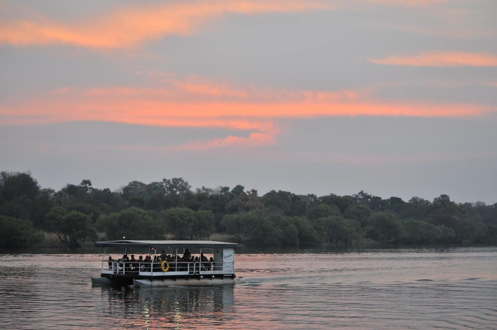 A river cruise/safari on the Zambezi River in Zambia