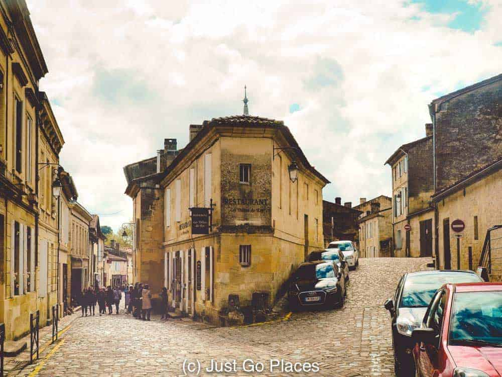 Wear comfortable shoes when you visit St Emilion because those hills and cobblestoned roads get tricky.