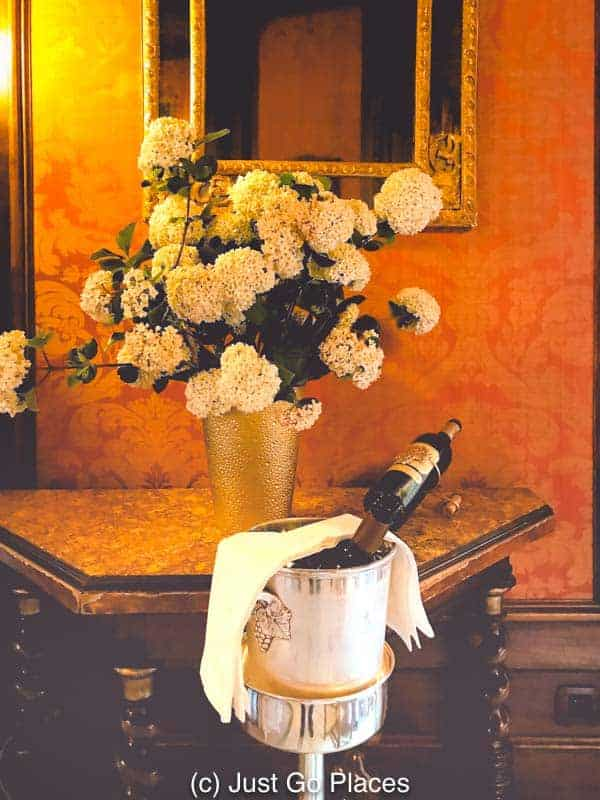 This Relais & Chateaux hotel has an extensive wine list.